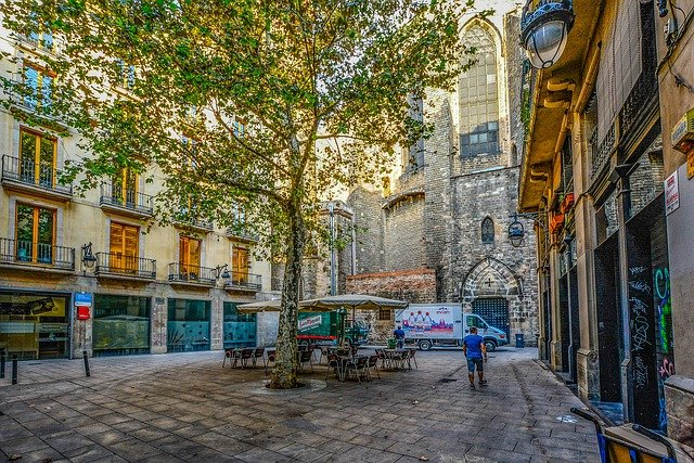 barcelona den gamle by gotisk