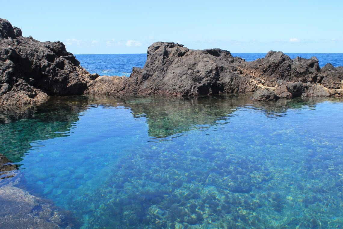 Naturlige lavapools ved Garachico Tenerife seværdigheder