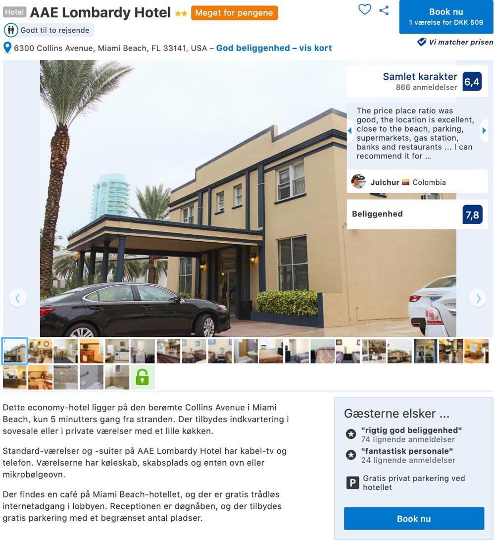 Krydstogt - Billig hotel i Miami i januar