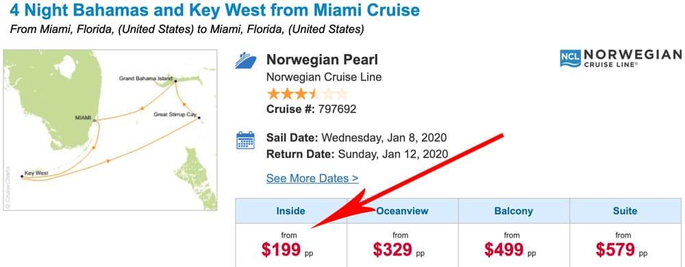 Krydstogt - Billigt cruise i Miami i januar